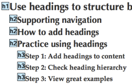 hierarchy of headings